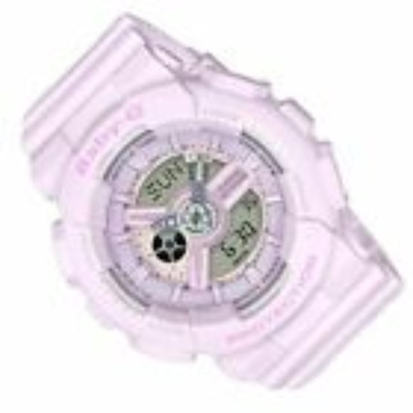 Casio Baby-G BA110 Pink Color Resin Band Watch BA1
